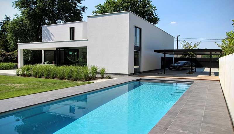 Cube piscine rectangulaire avec volet int gr leisure pools - Piscine leisure pools ...